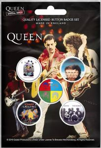 Queen Later Albums 5 Pin Badges in Pack (rz)